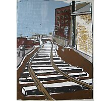 Brooklyn Train, Silkscreen  Photographic Print