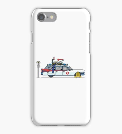Ghostbusters Cadillac Wheel Clamp  iPhone Case/Skin