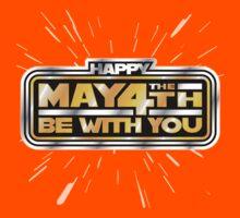 Happy May the 4th! (Yellow/Stars) Kids Tee