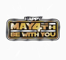 Happy May the 4th! (Yellow/Stars) Kids Clothes