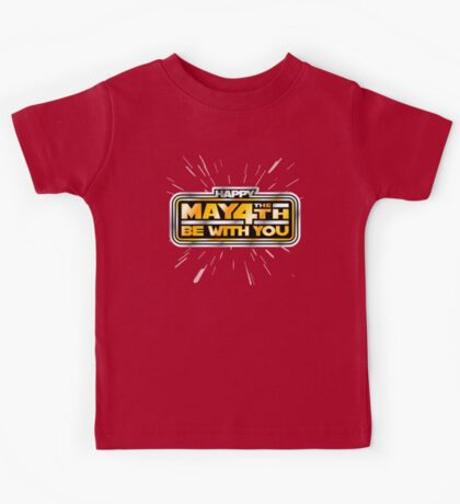 Happy May the 4th! (Yellow/Stars) Kids Tee