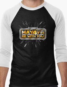 Happy May the 4th! (Yellow/Stars) Men's Baseball ¾ T-Shirt
