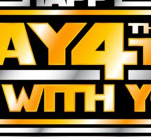 Happy May the 4th! (Yellow/Stars) Sticker