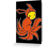 Pickyuubi (Picachu - Nine Tails Fusion) Greeting Card