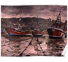 Staithes Low Tide Poster