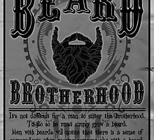 Beard Brotherhood B&W by mijumi