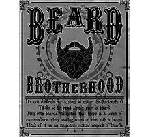 Beard Brotherhood B&W Photographic Print