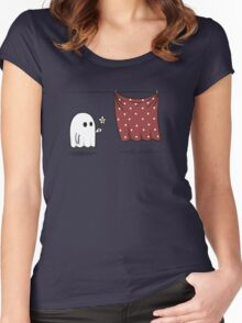 Friendly Ghost Women's Fitted Scoop T-Shirt