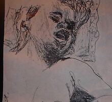 Female Nude IV -(290313)- A5 sketchpad/Black Ink Pen by paulramnora