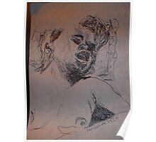 Female Nude IV -(290313)- A5 sketchpad/Black Ink Pen Poster