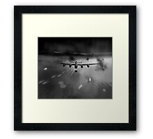 P-Popsie attacking the Mohne Dam black and white version Framed Print