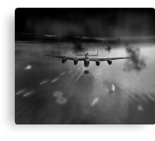 P-Popsie attacking the Mohne Dam black and white version Canvas Print