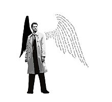 Castiel - the angel with a shotgun Photographic Print