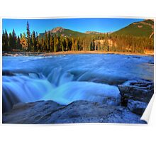Athabasca Falls in Jasper National Park Poster