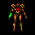 Neon-Segmented Samus Aran by thedailyrobot