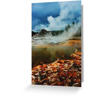 Castle Geyser in HDR Greeting Card