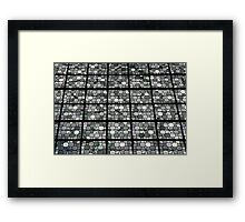 Stained window detail in Saint Nicolas Church in Brussels Framed Print