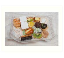 Patisserie Cakes Art Print