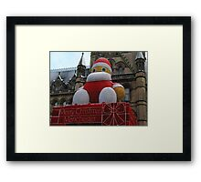 Christmas decoration in Manchester Framed Print