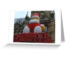 Christmas decoration in Manchester Greeting Card