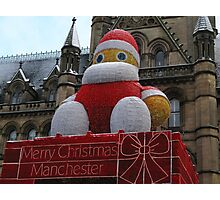 Christmas decoration in Manchester Photographic Print