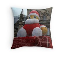 Christmas decoration in Manchester Throw Pillow