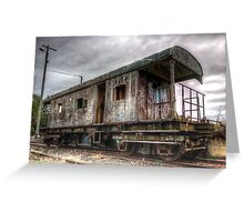 Almost end of the Line, Rail Carriage Harden NSW Australia  Greeting Card