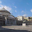 Piazza Plebiscito in Naples by kirilart
