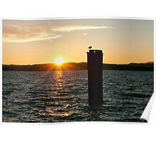 Lake Garda Golden Sunset Poster