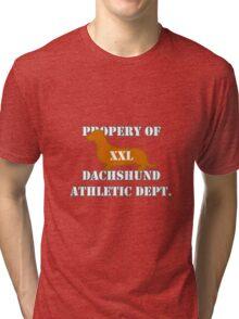 Dachshund Athletic Shirt XXL Tri-blend T-Shirt