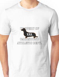 Dachshund Athletic Shirt XXL Unisex T-Shirt