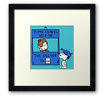 Peanuts Time Travel Framed Print
