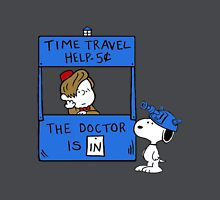 Peanuts Time Travel Women's Fitted V-Neck T-Shirt