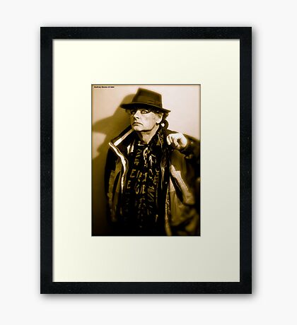 Show must go on. Tribute to Freddie Mercury. Hats off to you ! For Being Featured ! in Hat Heads. Framed Print