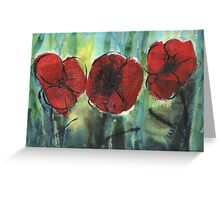 Flowers, Red Poppies 2 - 2013 Greeting Card