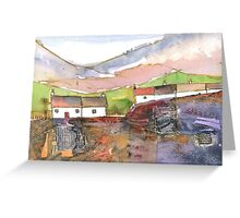 White Cottages 1, Scotland - 2013 Greeting Card