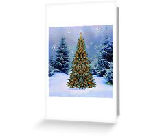 Winter Christmas wishes Greeting Card