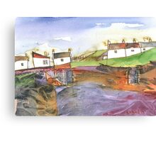 White Cottages 3, Scotland - 2013 Canvas Print