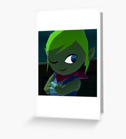 Leafy reptilian Greeting Card
