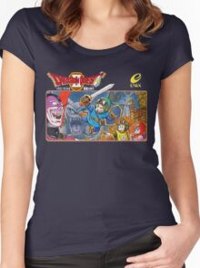 Dragon Quest 2 Nintendo Famicom Box Art Women's Fitted Scoop T-Shirt