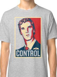 CONTROL Beige/Red/DarkBlue Classic T-Shirt