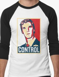 CONTROL Beige/Red/DarkBlue Men's Baseball ¾ T-Shirt