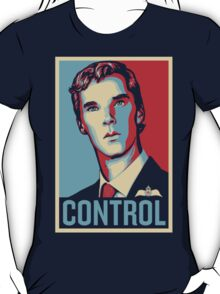 CONTROL Beige/PastelBlue/Red T-Shirt