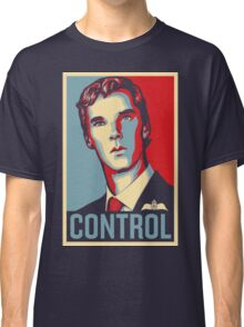 CONTROL Beige/PastelBlue/Red Classic T-Shirt