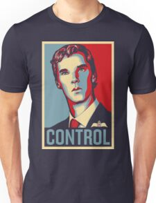 CONTROL Beige/PastelBlue/Red Unisex T-Shirt