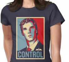 CONTROL Beige/PastelBlue/Red Womens Fitted T-Shirt