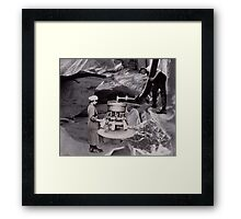 Milking the Earth through Surrealism. Framed Print