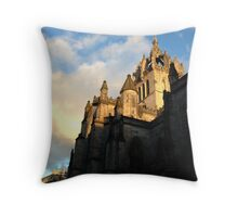 St. Giles Cathedral, Edinburgh with Sky Throw Pillow