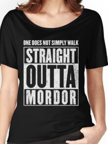 Straight Outta Mordor Quotes Women's Relaxed Fit T-Shirt