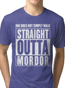 Straight Outta Mordor Quotes Tri-blend T-Shirt